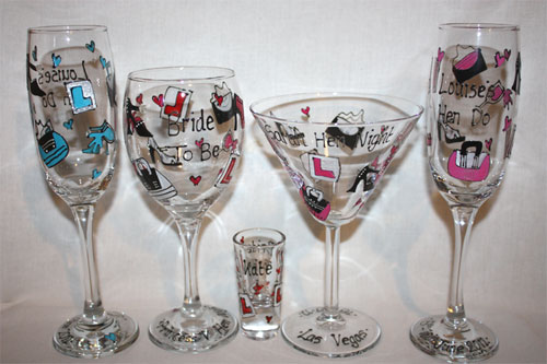 personalised hen party glasses