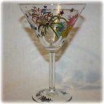 personalised hand painted glassware martini glass