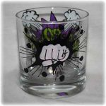 hand painted whiskey glass
