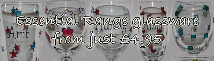 Unique Glasses, Personalised Hand Painted Glassware 03