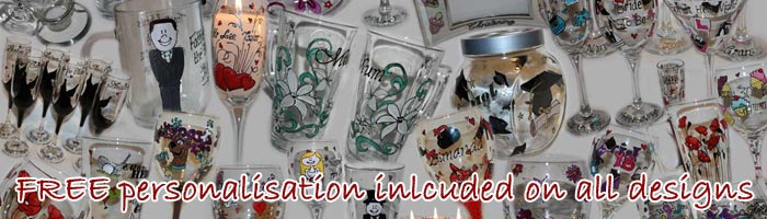 Unique Glasses, Personalised Hand Painted Glassware 01