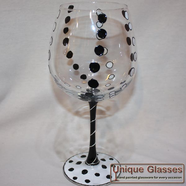Personalised large wine glass