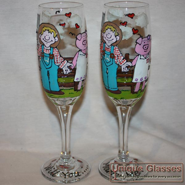 Custom Personalised champagne glass