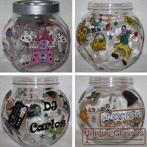 Custom personalised cookie jar