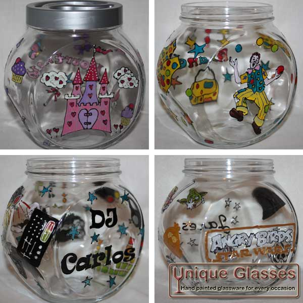 Bespoke Cookie Jar Unique Glasses