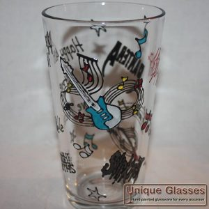 Personalised beer pint glass