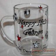 Personalised Bespoke Pint Tankard glass