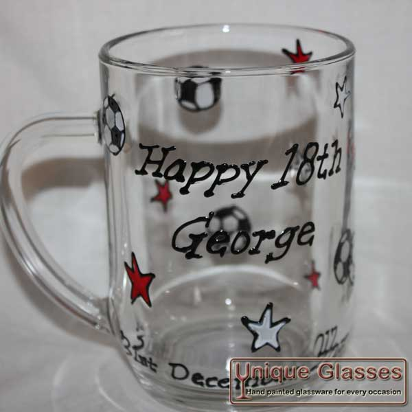 Personalised Bespoke Pint Tankard glass