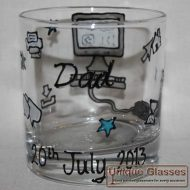 Bespoke personalised whiskey glass