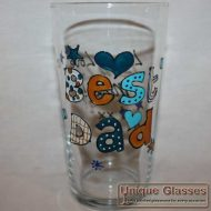 Personalised hand painted beer glass