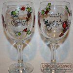 Personalised Christmas wine glass. Christmas pint glass. Christmas gin glass