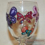 personalised butterfly glass