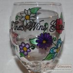 personalised mothers day wine glass, hand painted mothers day glass