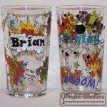 Personalised Comic Glass