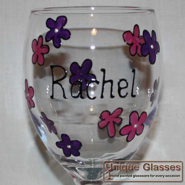 Cheap personalised hand painted wine glass