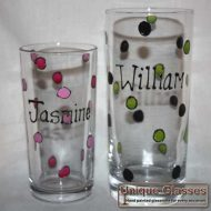 Personalised polka dot glass