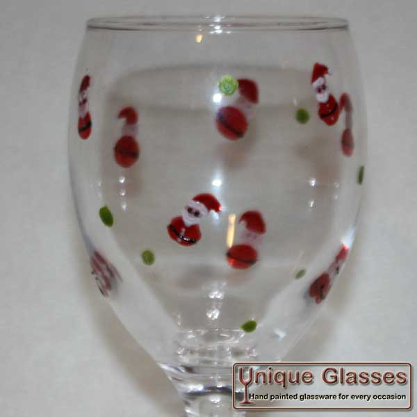 Personalised Christmas santa glass