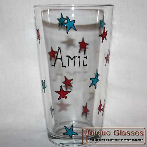 Personalised Star glass