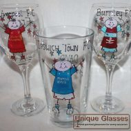 Personalised footballer glass