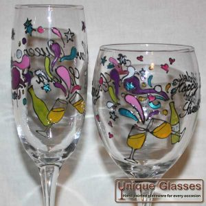 Funky Celebration Glass Design