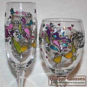 Funky Celebration Glass Design