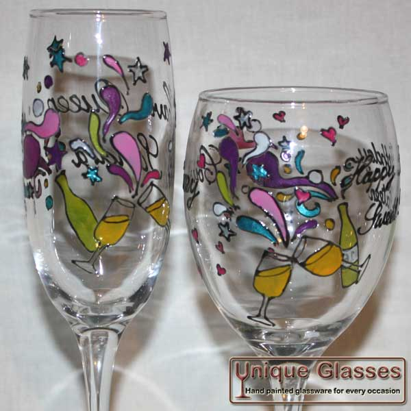 Funky glass design by unique glasses ipswich - Funky champagne flutes ...