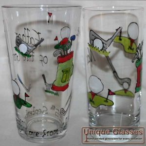 Golf Icons Glass