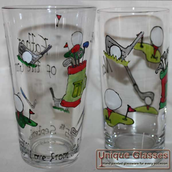 Personalised golf glass