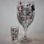 Personalised hen and shot glass