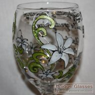 Personalised Lily Glass