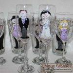 Personalised wedding glasses