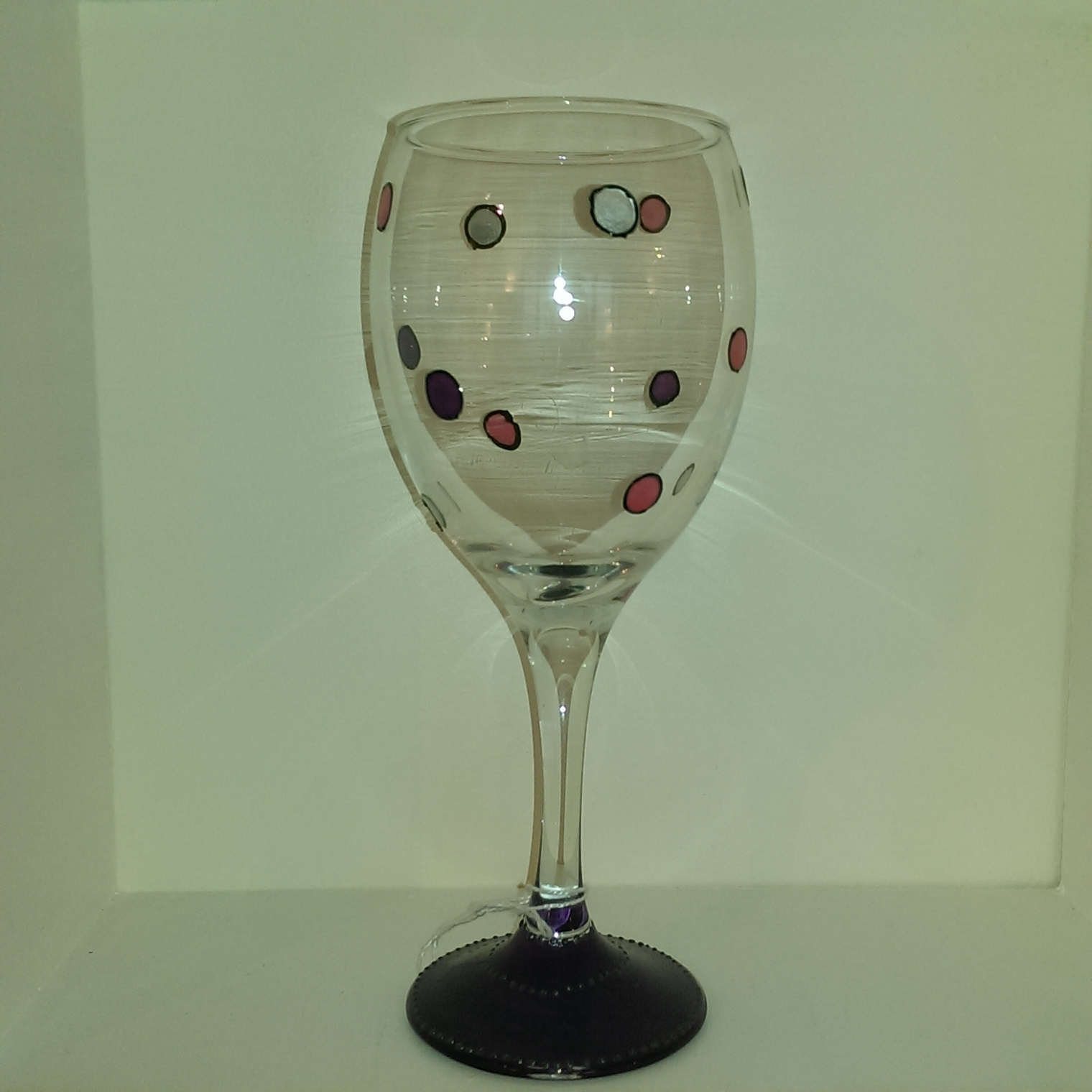 Already Painted Polka Dot Wine Glass Unique Glasses