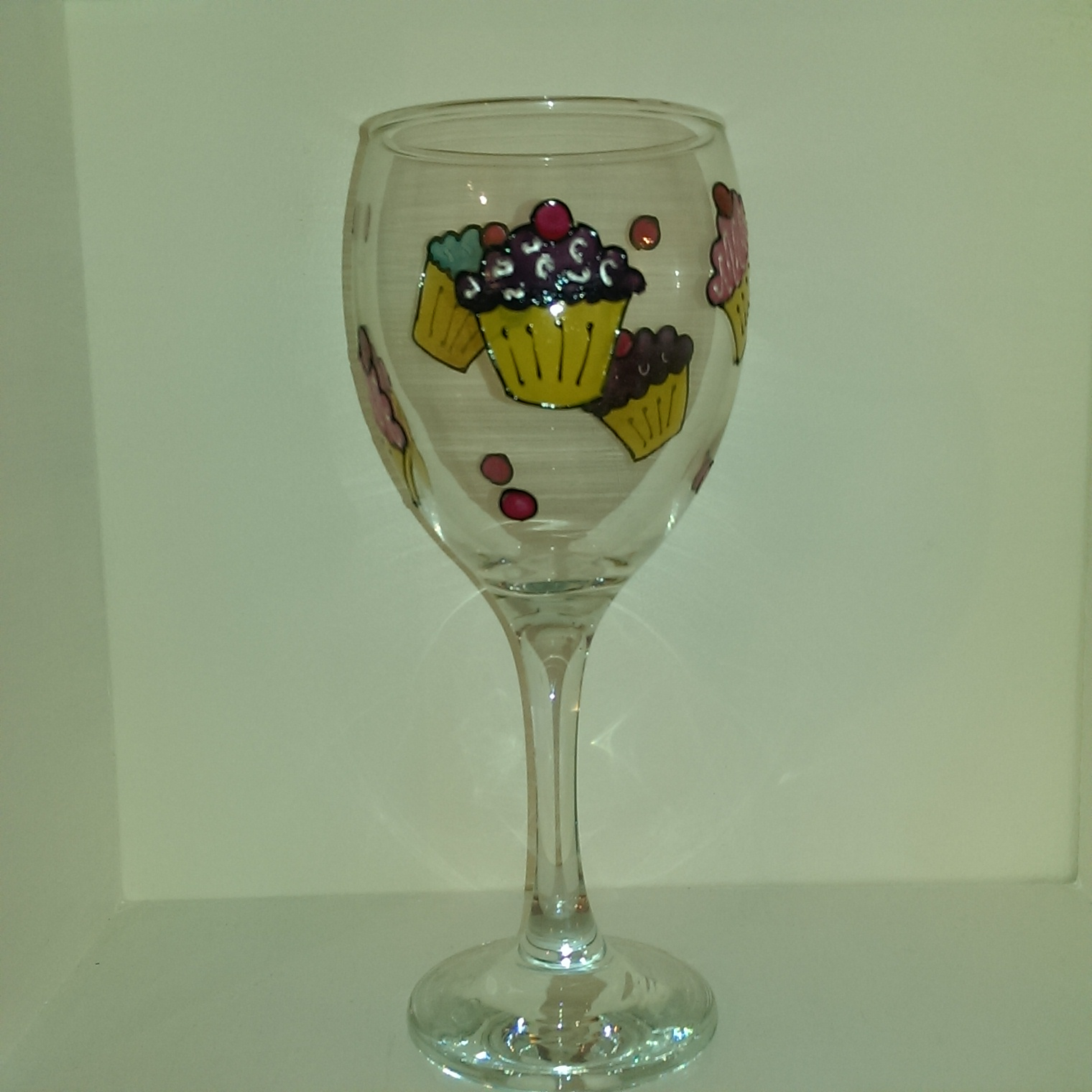 Already Painted Cupcake Wine Glass Unique Glasses