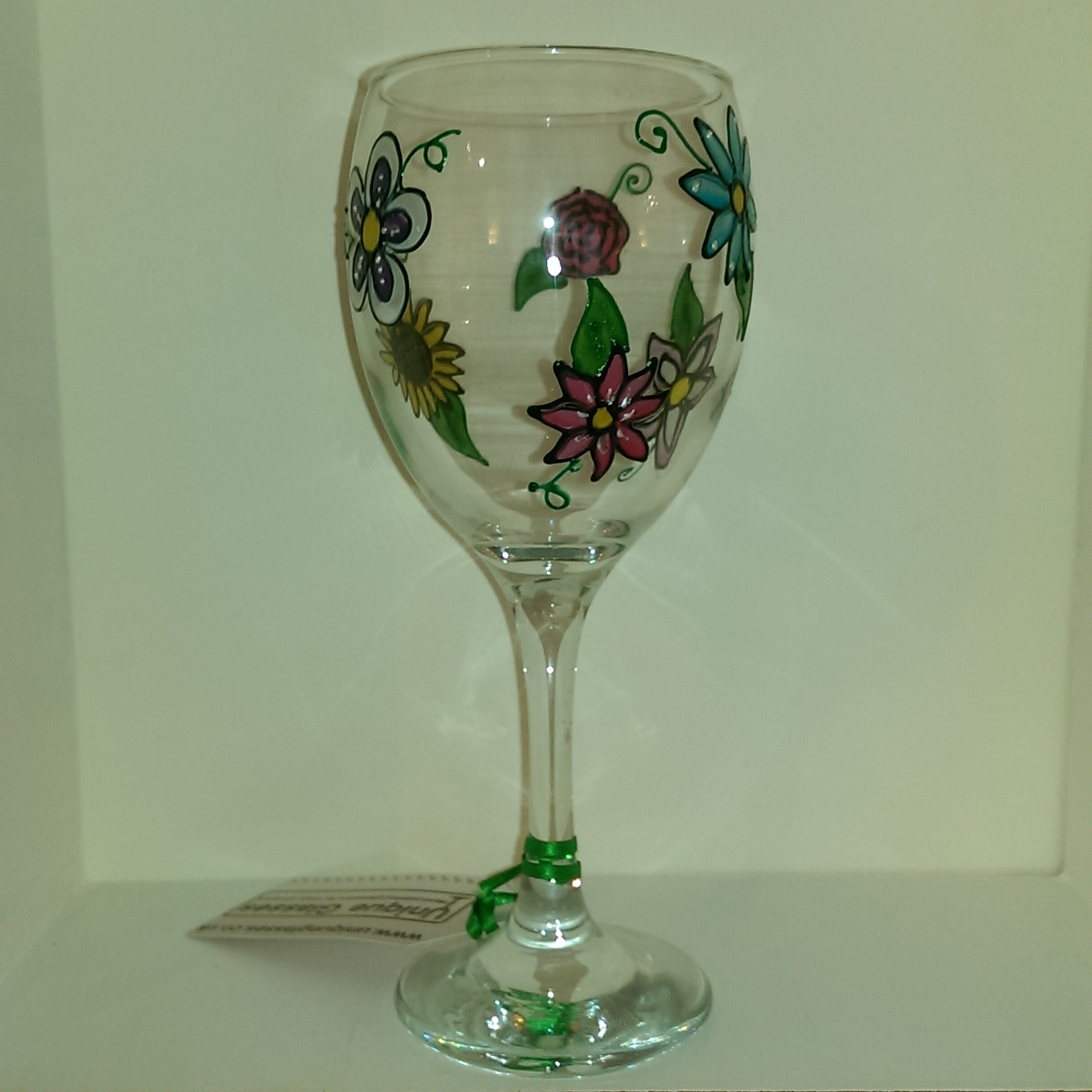 Already Painted Classic Flower Wine Glass Unique Glasses