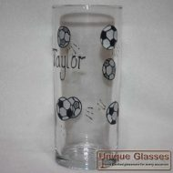 personalised football glass