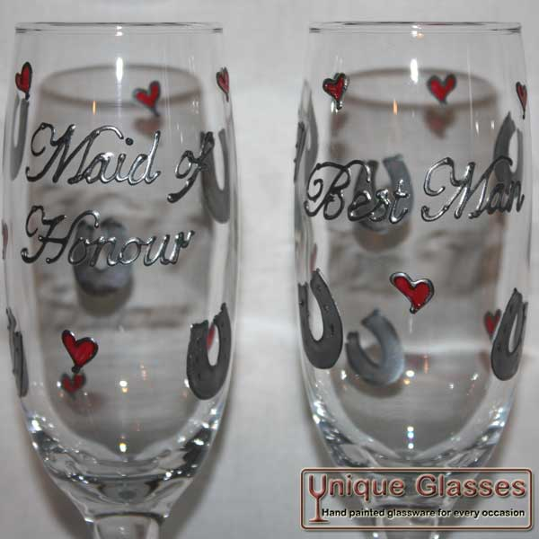 Personalised Wedding champagne glass