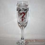 personalised Marry me glass
