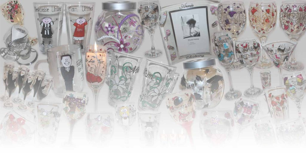 Personalised Hand Painted Glasses for any occasion