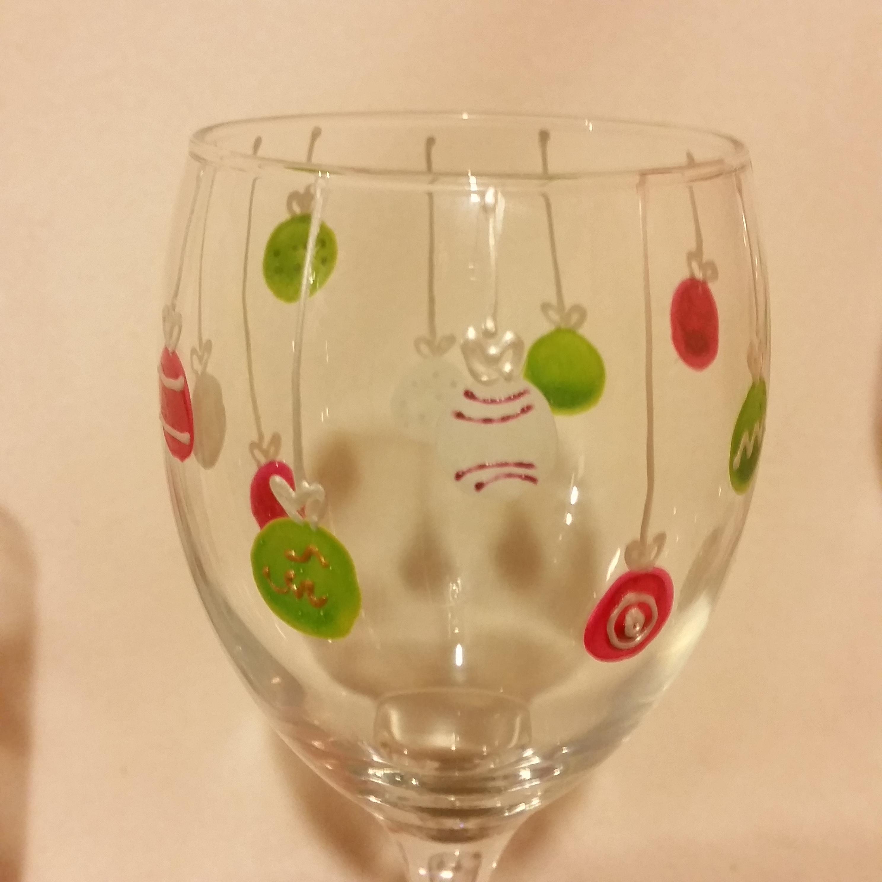 Christmas Bauble Glass Design Unique Glasses