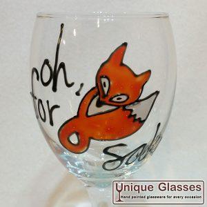 """Slogan Glass """"For FOX Sake"""""""