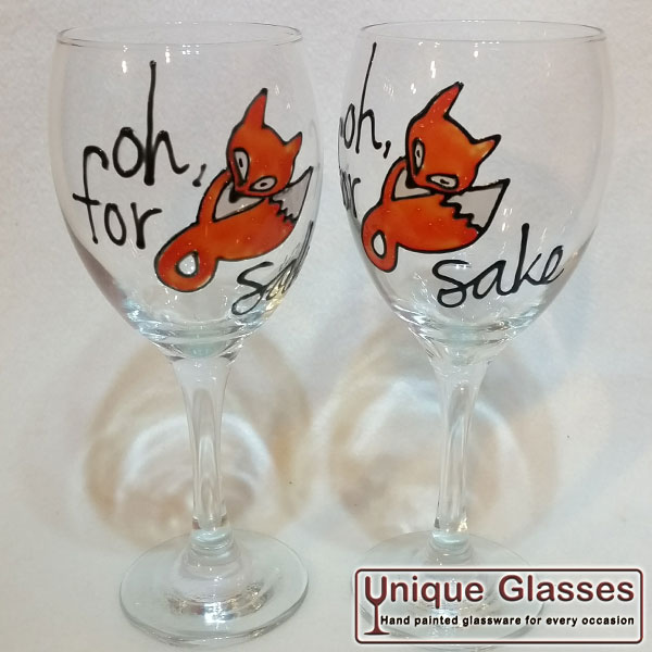 For Fox Sake Wine Glass
