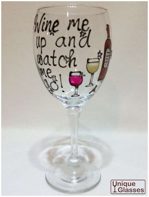 personalised birthday balloon wine glass by unique glasses. Black Bedroom Furniture Sets. Home Design Ideas