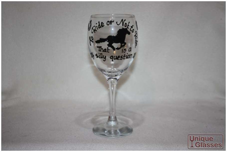 personalised horse wine glass