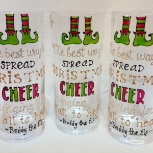 Buddy The Elf Glass - The best way to spread Christmas cheer is singing loud for all to hear