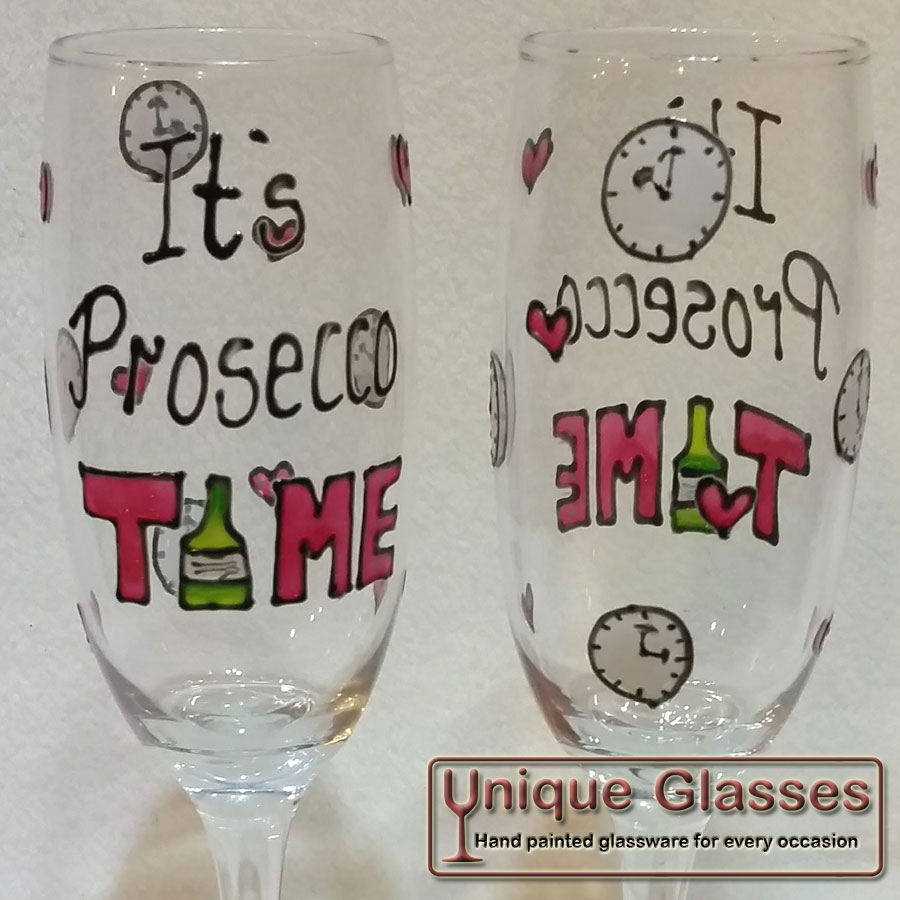 Prosecco Time Personalised Glass