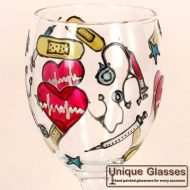 Nurse Doctor personalised wine glasses