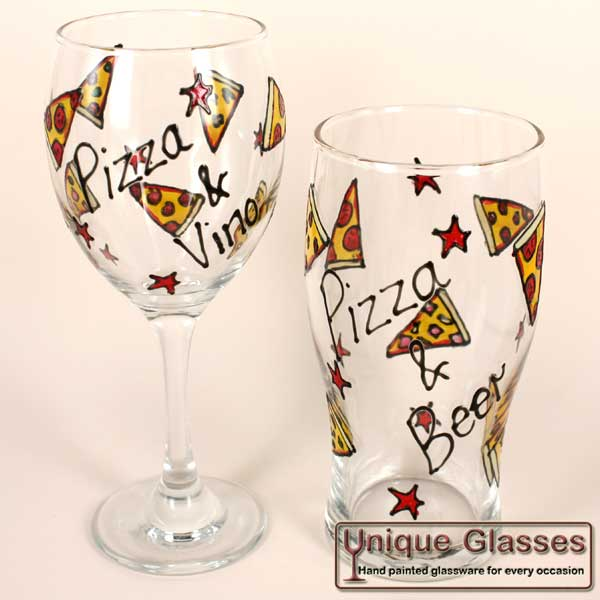 personalised pizza glass