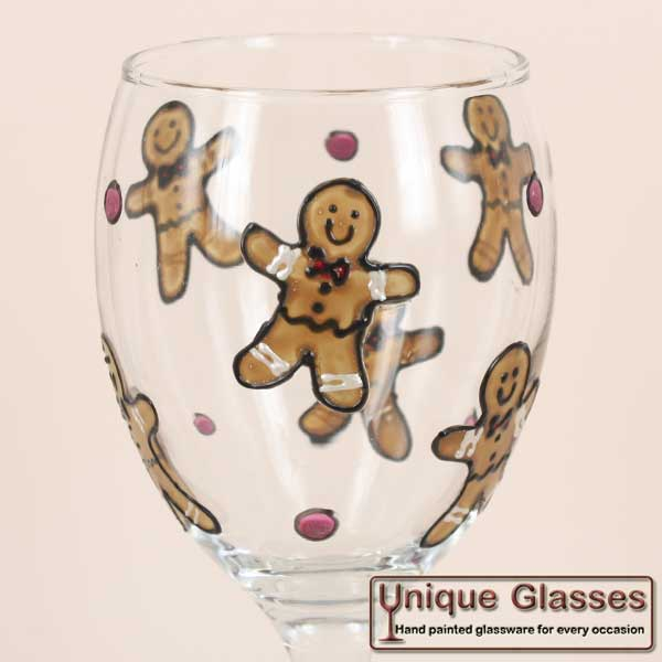 Gingerbread man wine glass