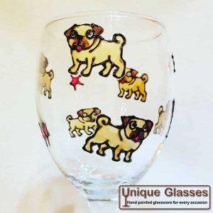 Personalised Pug Dog Glass